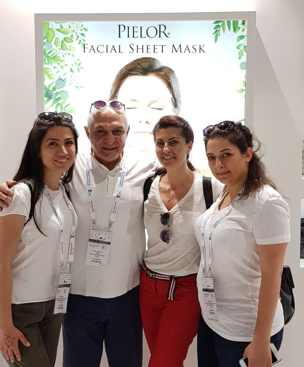 PIELOR met visitors at Beautyworld Middle East!